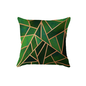 SuperSoft Green Spark Throw Pillow