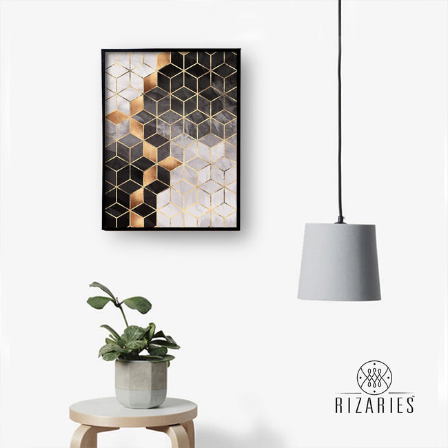 Smoky Cubes Canvas Painting