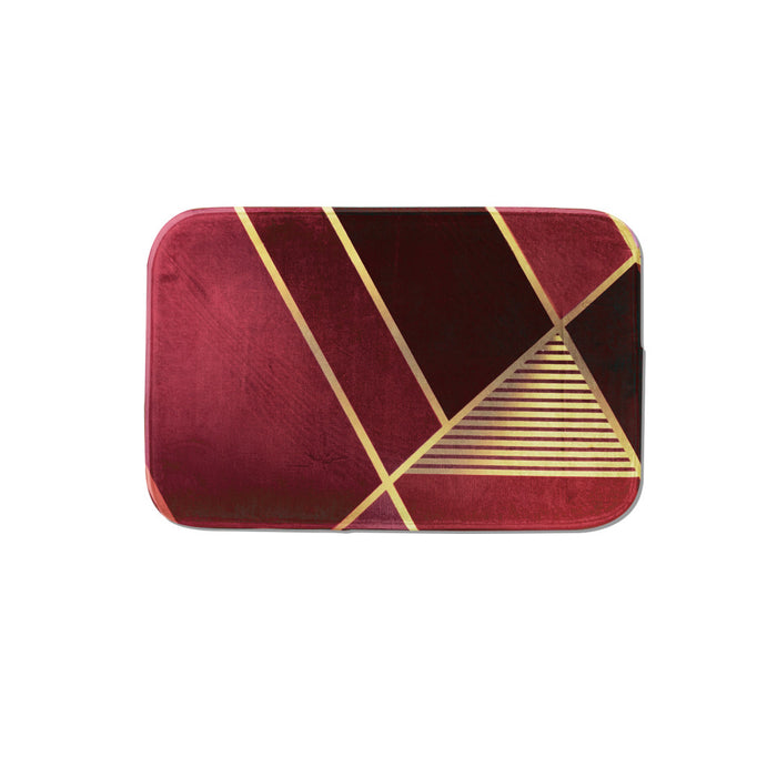 SuperSoft Burgundy & Gold Door Mat