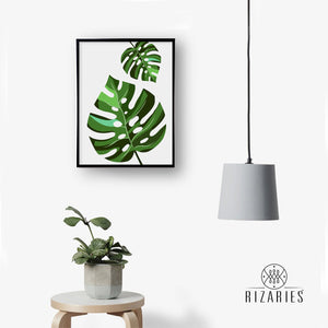 Green Leave Handmade Canvas Painting