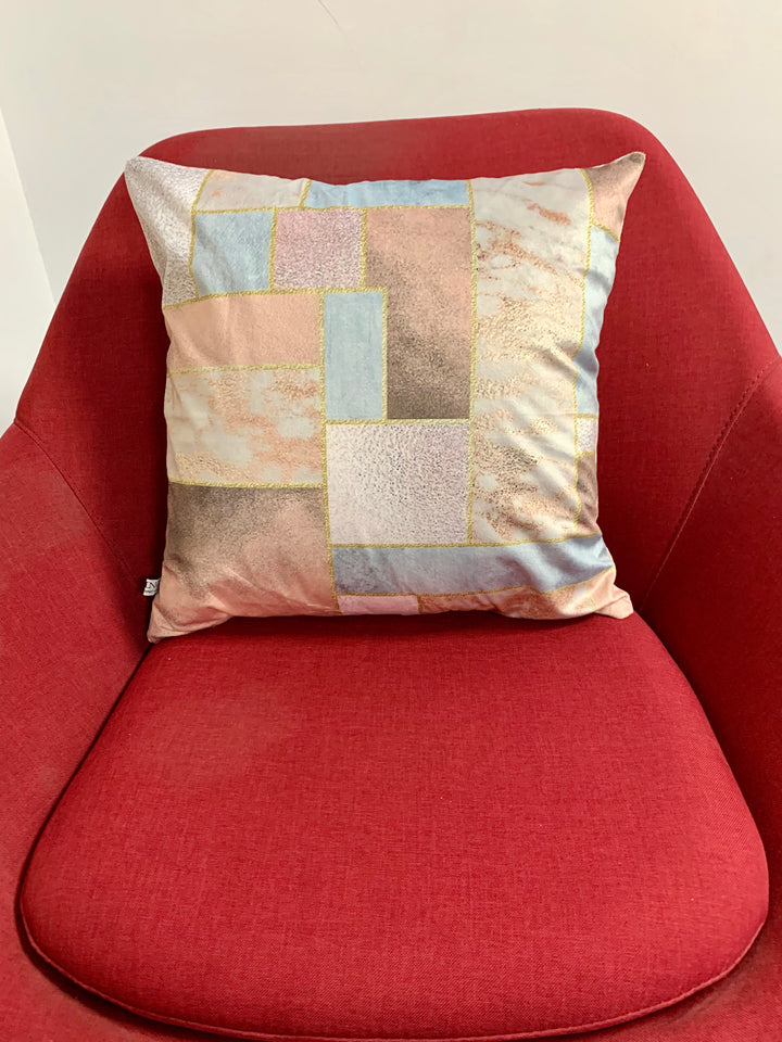 SuperSoft Copper Foil Geo Throw Pillow