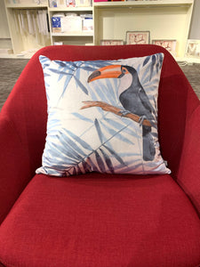 SuperSoft Palm leaves & Toucan Throw Pillow