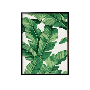 Banana Leaves Handmade Canvas Painting