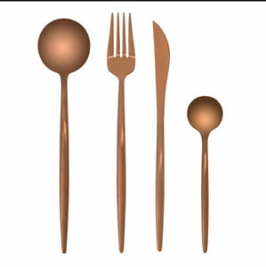 Matt Rose Gold Cutlery Set
