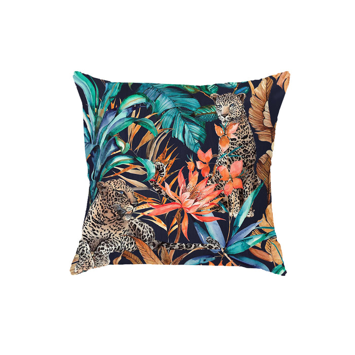 SuperSoft Leopard in a Jungle Throw Pillow