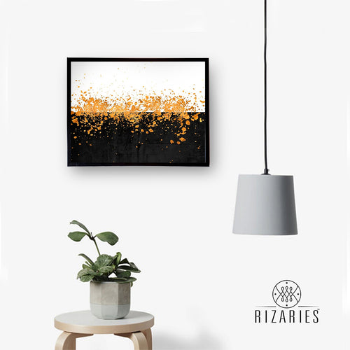 Sprinkles of Gold Canvas Painting