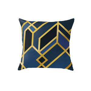 SuperSoft Art Deco Blue Throw Pillow