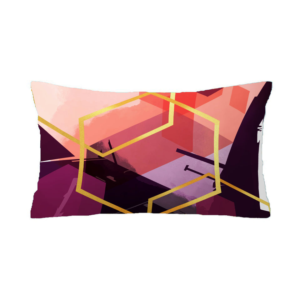 SuperSoft Magenta Abstract Rectangle