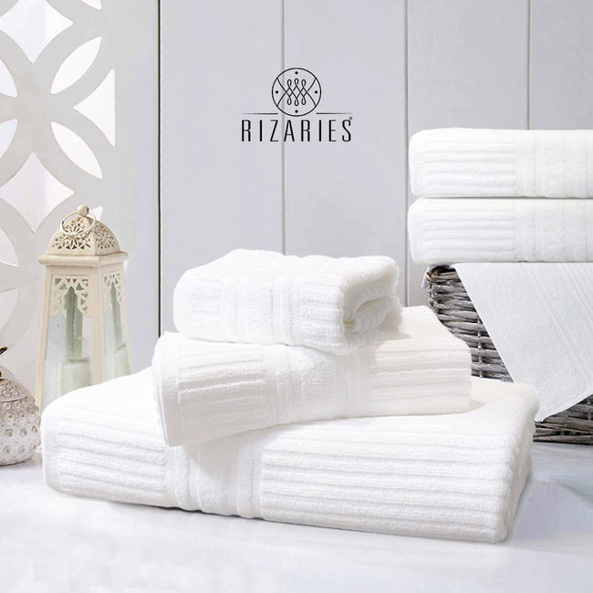 Stripe White Towel Set