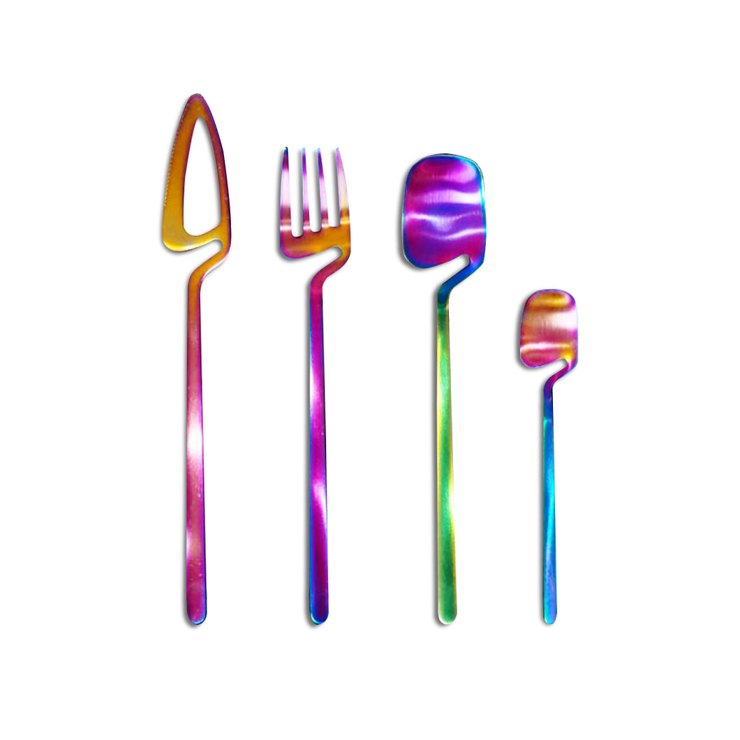 New Multi Color Cutlery Set