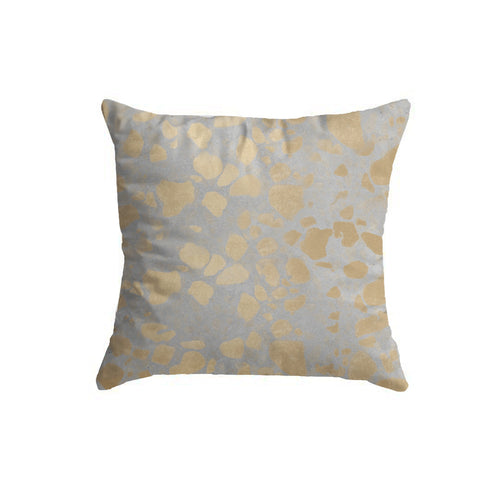 SuperSoft Gold on Grey Throw Pillow