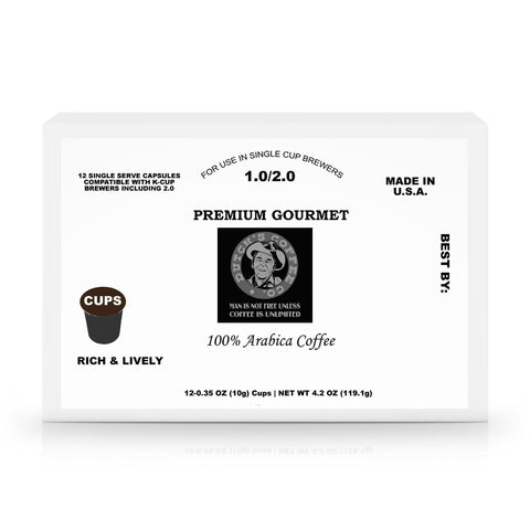 Dutch's Coffee Co. 12 Pack Single Serve Coffee Capsules