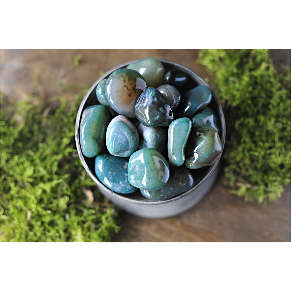 Green Agate Tumbled