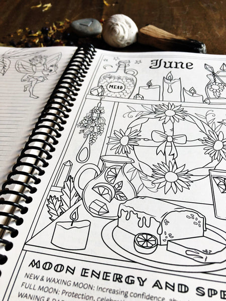 The Colouring Book of Shadows 2019 Planner ~ Spiral Bound