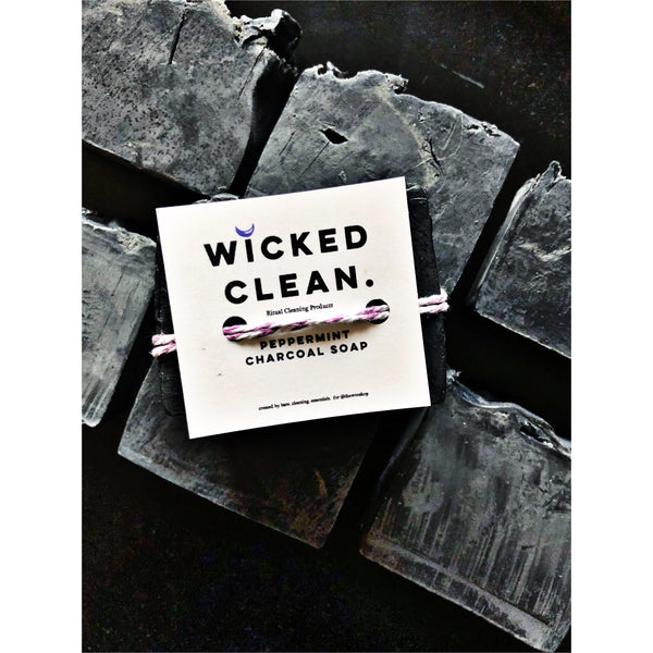 WICKED CLEAN - Peppermint + Charcoal Soap