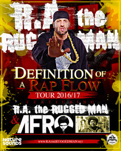 "R.A. The Rugged Man + A-F-R-O Announce ""Definition Of A Rap Flow"" Tour"