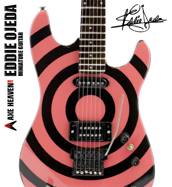 Click to Enlarge Eddie Ojeda, Twisted Sister, Signature Miniature Guitar Replica Collectible