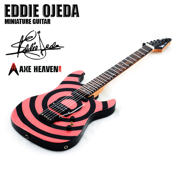 Stand Included Eddie Ojeda Signature Miniature Guitar Replica Collectible Twisted Sister
