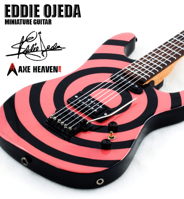 Hand-crafted Detail Eddie Ojeda Signature Miniature Guitar Replica Collectible Twisted Sister