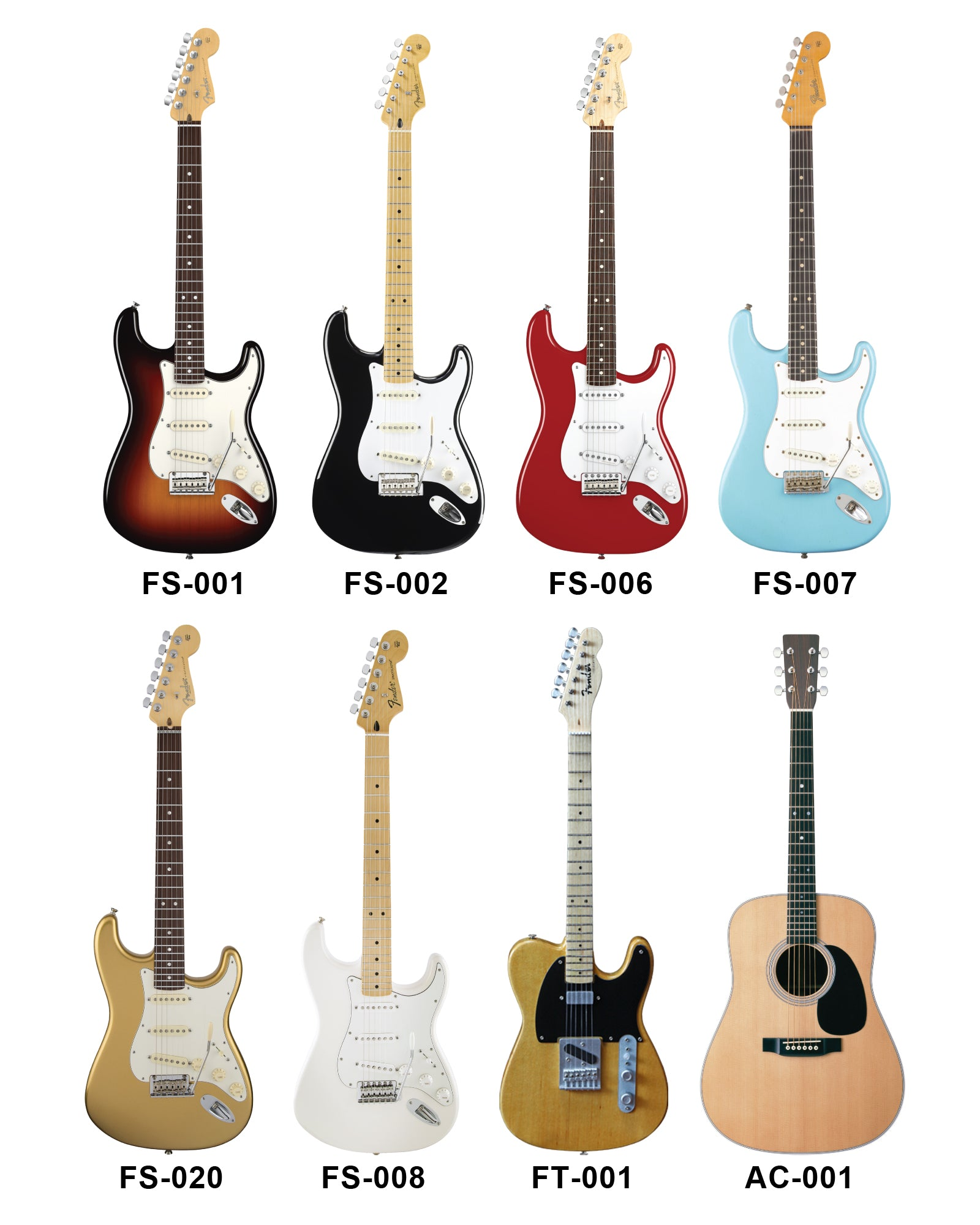 MINI GUITAR OPTIONS for ROCKSTAR AWARD