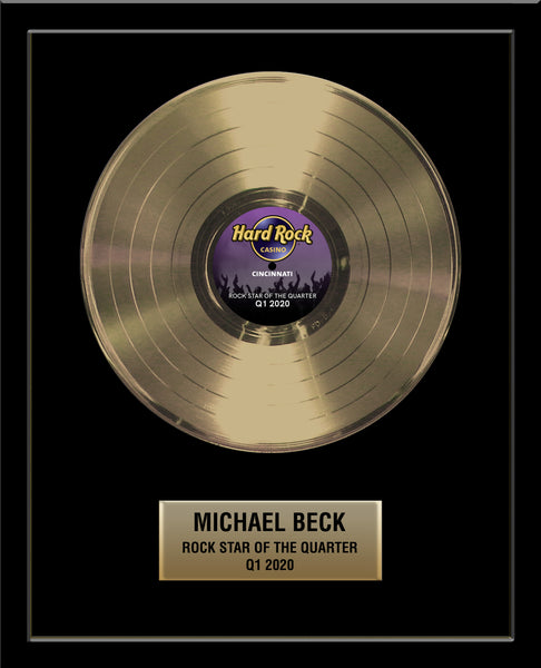 "18"" x 22"" Framed 12"" Gold Record - Basic Framed Rockstar Award - Metalized Gold Record"
