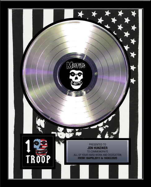 "18"" x 22"" Framed Artist & Band 12"" Platinum Record Album Tribute - Metalized Platinum Record"