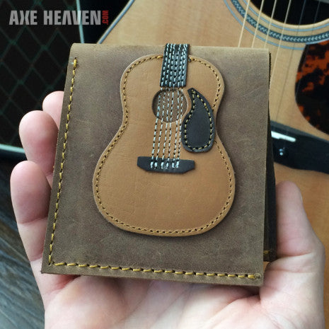 Dreadnought Acoustic Guitar Wallet - Handmade from Genuine Leather