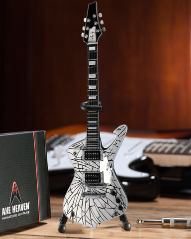 Officially Licensed KISS Paul Stanley Replica Cracked Mirror Iceman Miniature Guitar Model