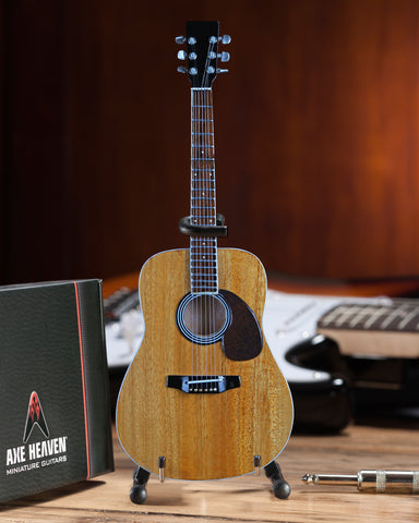 Classic Natural Finish Acoustic Miniature Guitar Replica Collectible