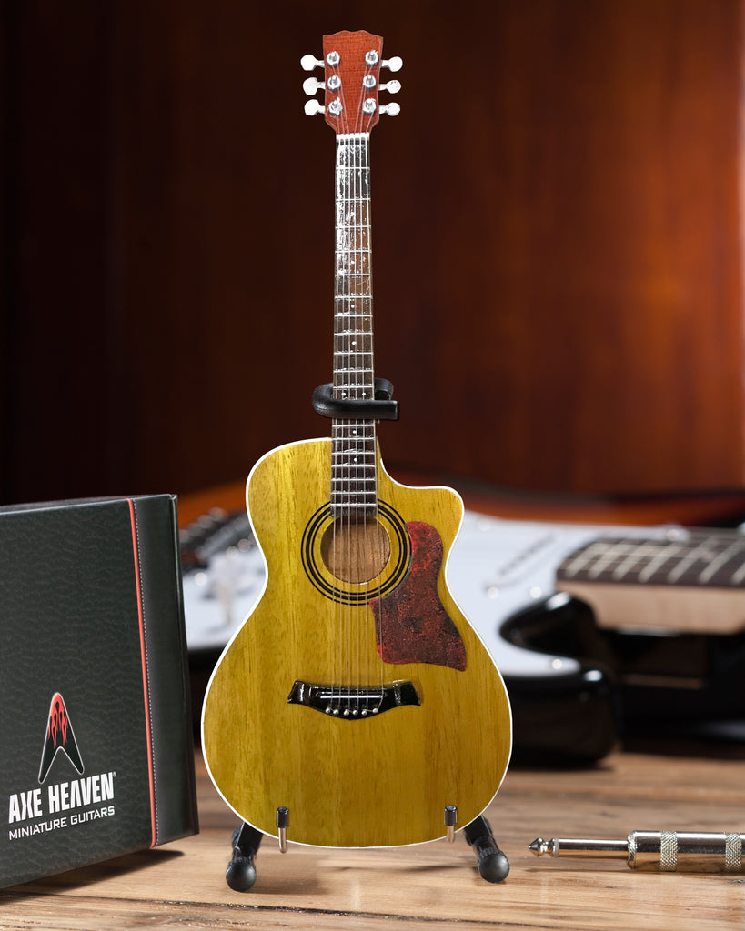 Classic Spruce Top Cutaway Acoustic Miniature Guitar Replica Collectible