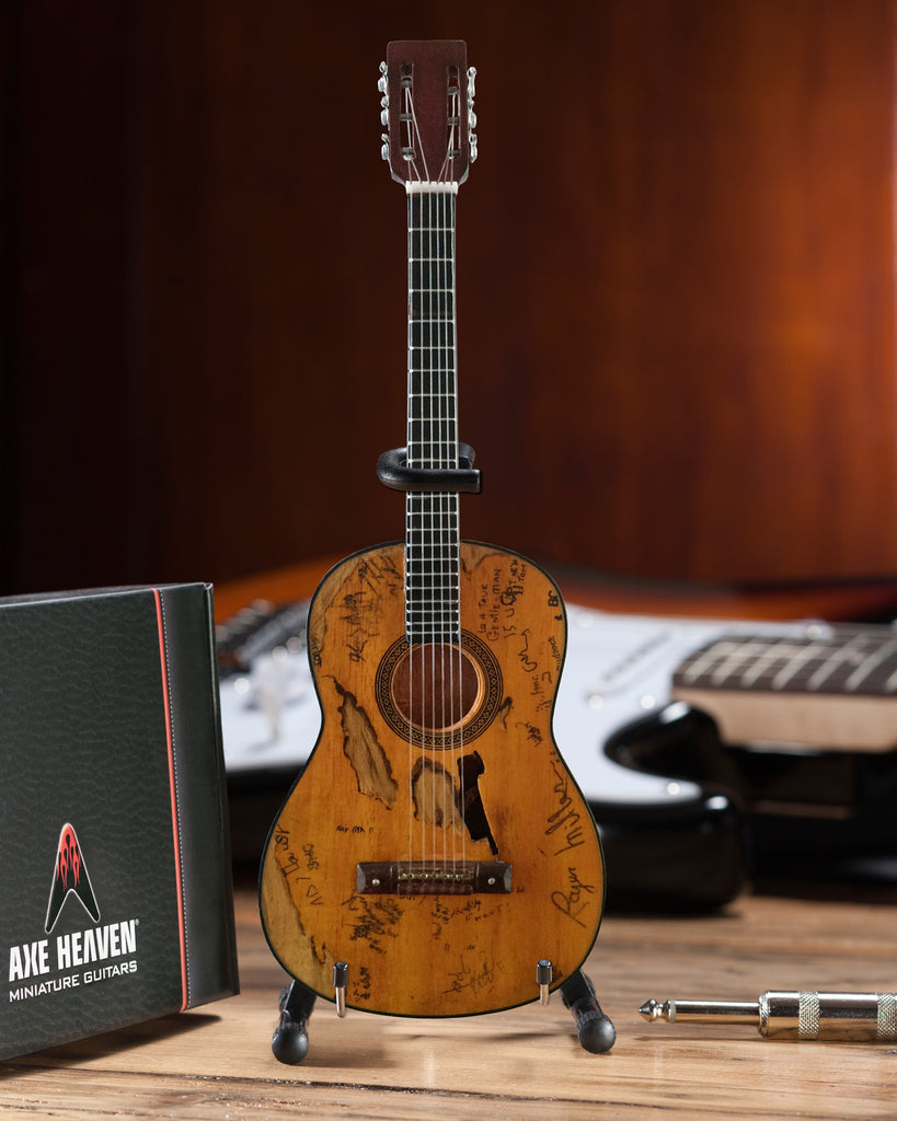 "Signature ""Trigger"" Acoustic Miniature Guitar Replica Collectible"