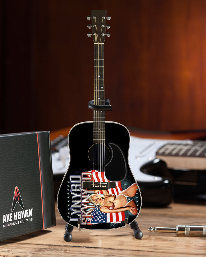 aa66c7c1b7b0c Officially Licensed Lynyrd Skynyrd USA Tribute Acoustic Mini Guitar ...