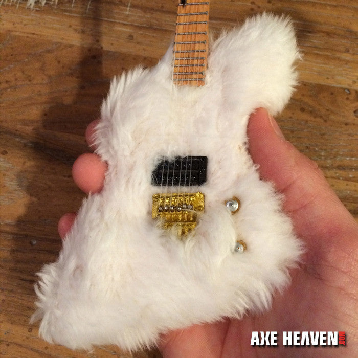 "Billy Gibbons ""The Fur"" Miniature Guitar Bass Replica Collectible"