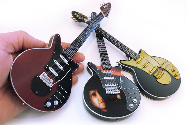 Brian May Signature SET OF 3 Miniature Guitar Collection