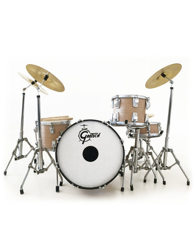 Charlie Watts Signature Miniature Drum Set Replica Collectible