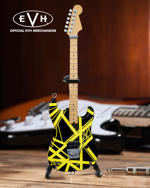 "EVH Black & Yellow VH2 ""Bumblebee"" Eddie Van Halen Mini Guitar Replica Collectible - Officially Licensed"