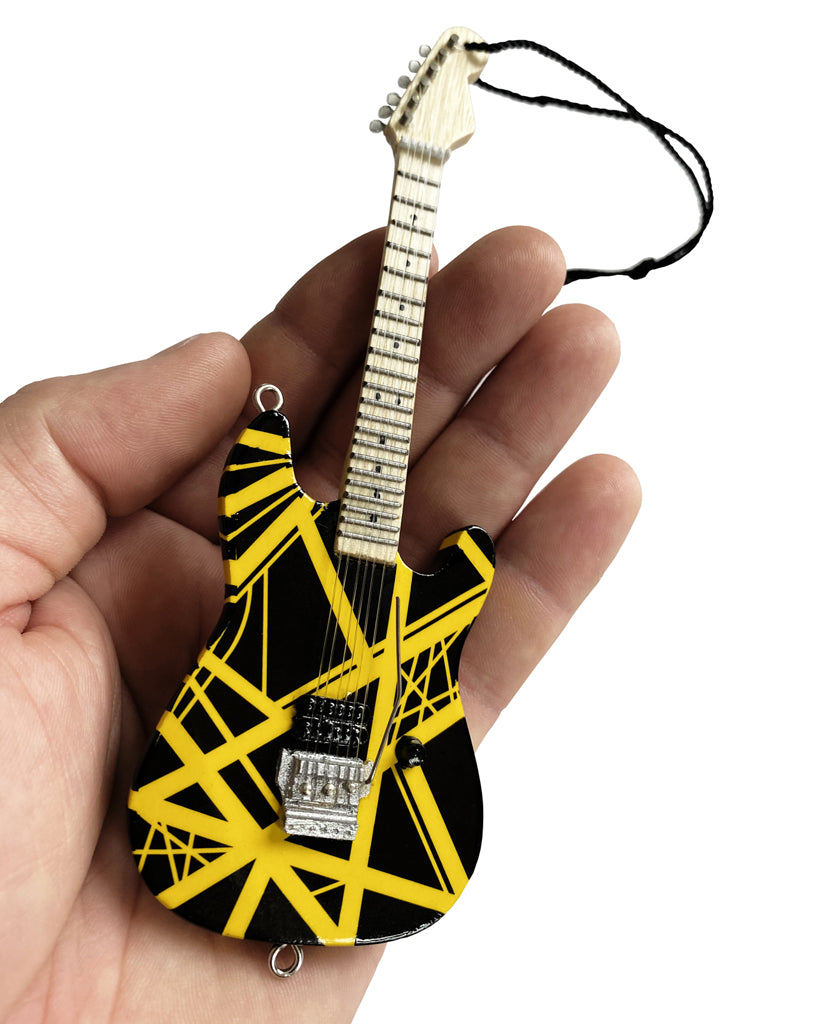 "6"" Officially Licensed EVH VH2 Bumblebee Guitar Holiday Ornament"
