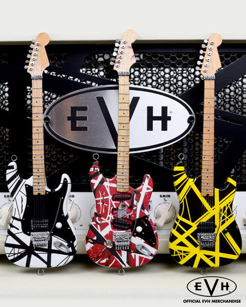 EVH Set of 3 Eddie Van Halen Mini Guitar Replica Collectibles - Officially Licensed