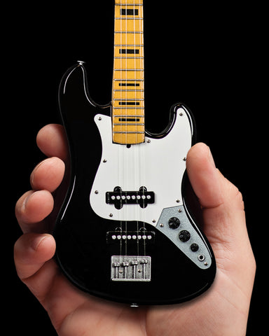 Fender™ Jazz Bass™ with Black Inlays Miniature Bass Guitar Replica - Officially Licensed