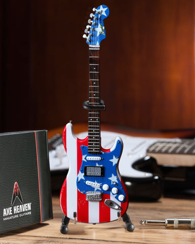 Officially Licensed Mini Stars N' Stripes Flag Fender™ Strat™ Guitar Replica - Wayne Kramer