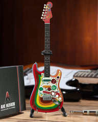 Officially Licensed Miniature Fender™ Strat™ Rocky Design Guitar Replica - Fab Four