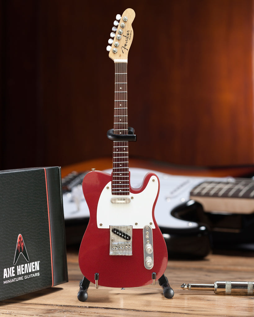 Officially Licensed Mini Candy Apple Red Fender™ Telecaster™ Guitar Replica