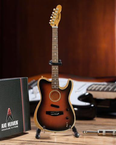 The American Acoustasonic™ Telecaster® Fender™ Miniature Guitar Replica - Sunburst