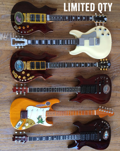 Jerry Garcia™ Tribute - SET OF 6 Signature Mini Guitar Replica Collectibles
