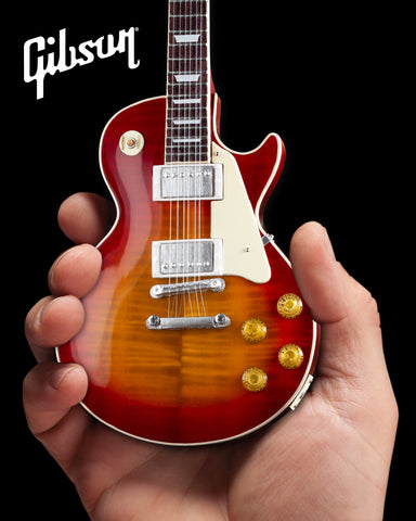 Gibson 1959 Les Paul Standard Cherry Sunburst 1:4 Scale Mini Guitar Model - Officially Licensed
