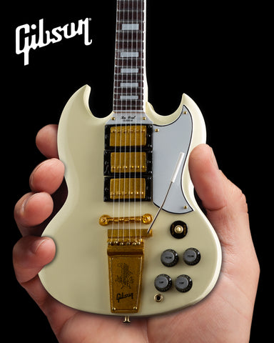 Gibson 1964 SG Custom White 1:4 Scale Mini Guitar Model