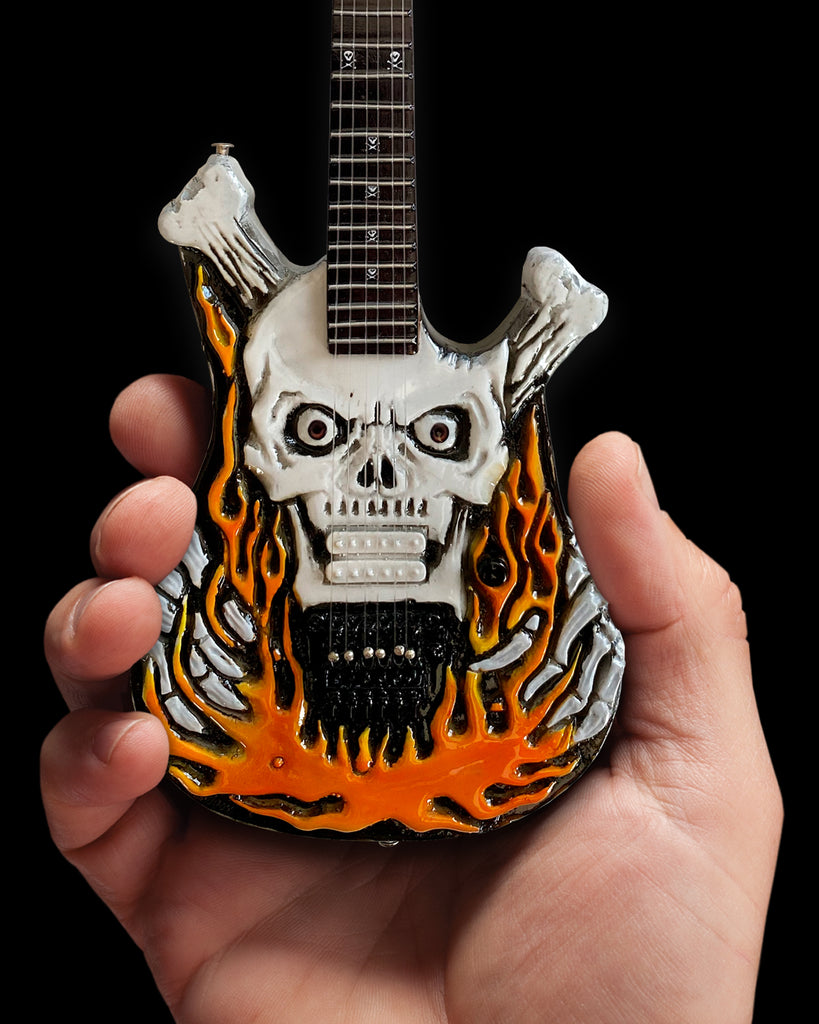 Official George Lynch Signature ESP Flaming Skull Mini Guitar Replica