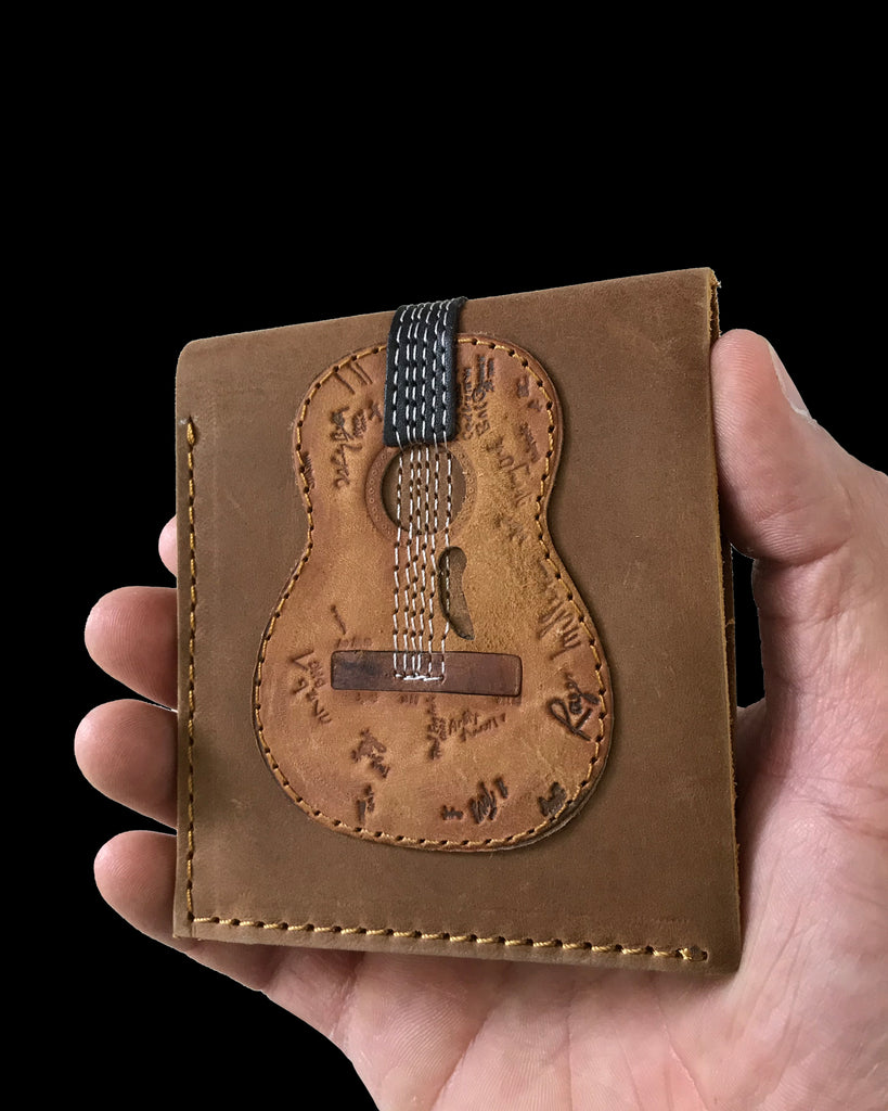 Trigger Acoustic Signature Guitar Wallet - Handmade from Genuine Leather