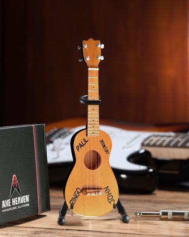 Classic Natural Finish Soprano Ukulele Miniature Model