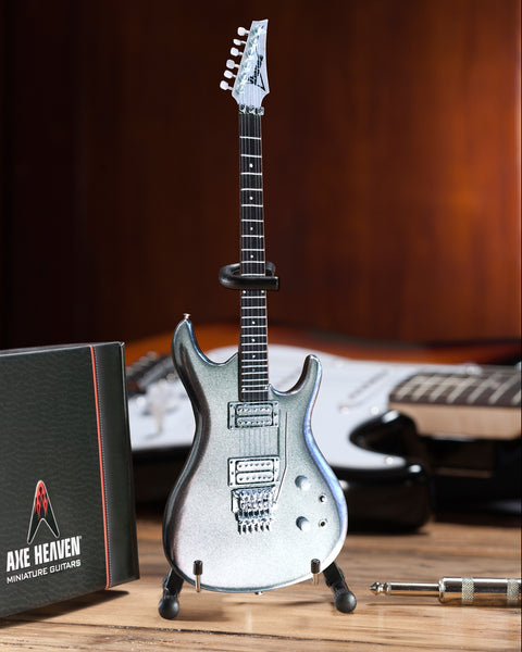 Joe Satriani Signature Chrome Boy Miniature Guitar Replica Collectible